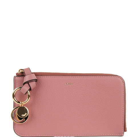 Alphabet Medium Purse, Rusty Pink