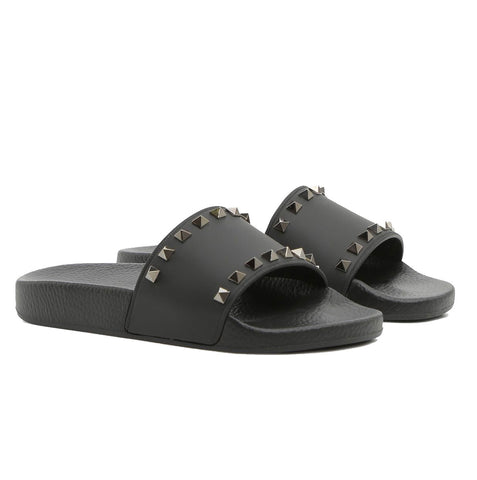 PVC Slides Ruthenium, Black
