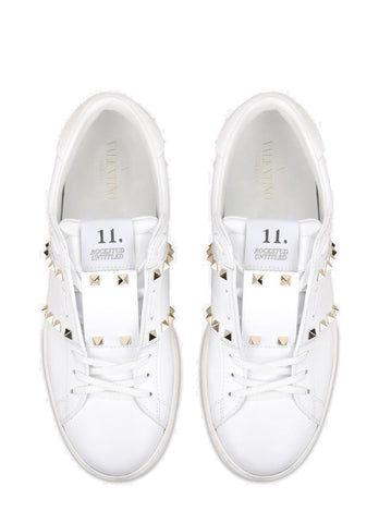 Open Sneaker Untitled, White/Gold