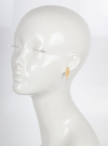 Snow Reverse Earring, Gold