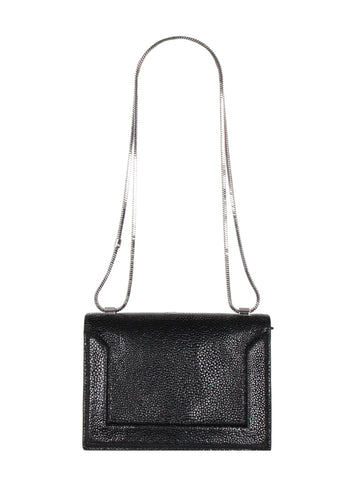 Soleil Mini Stingray Chain Bag, Black
