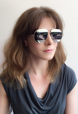 Dior Split Sunglasses, Silver/Navy