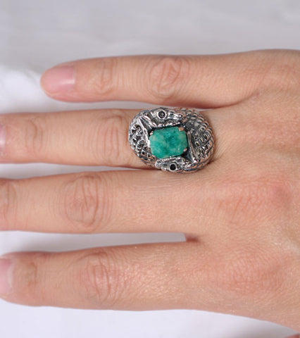 Amazonite Serpent Ring
