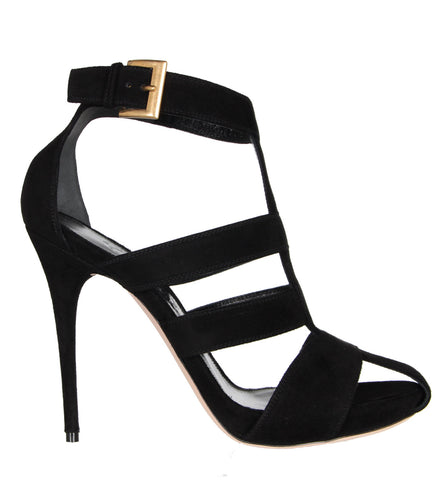 Wide Strap Sandal, Black
