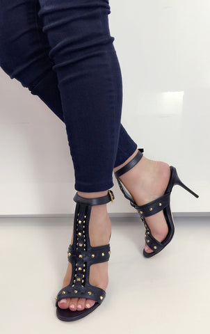 Studded Sandal, Black