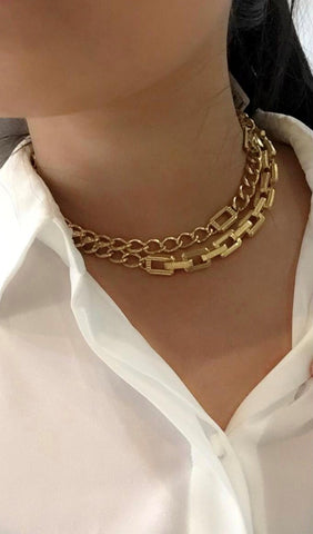 Supra Link Necklace, Gold