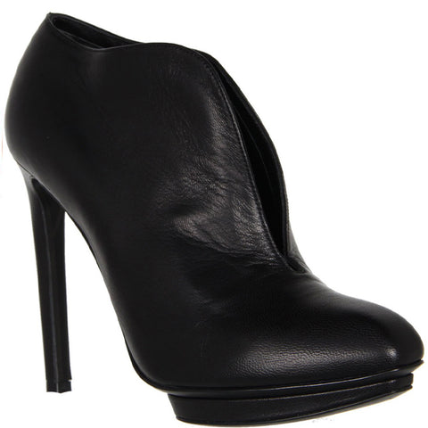 Centre Split Ankle Boots, Black