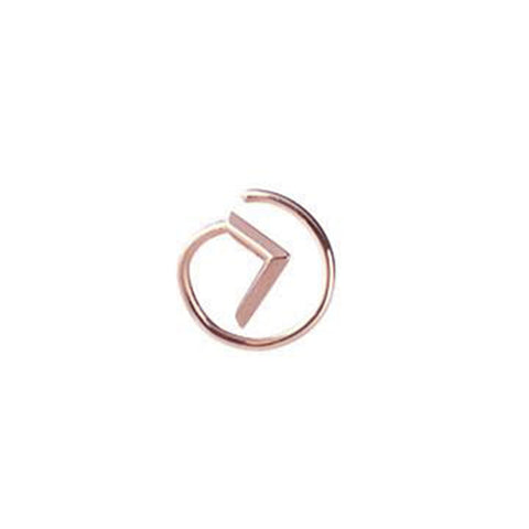 Check Twirl Earring, Rose Gold