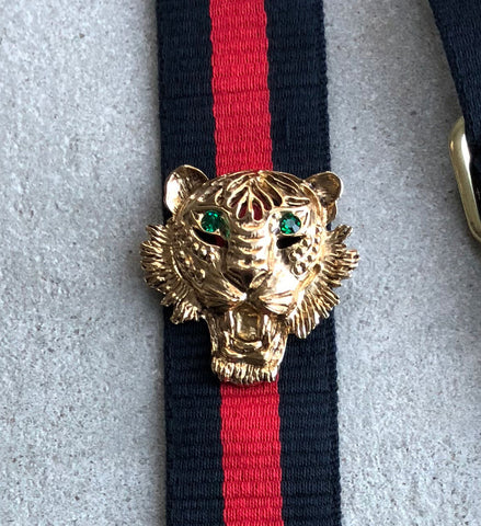Strap 40 Tiger Gold (Green), Blue/Red