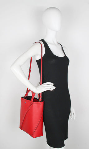 PS Hex Tote Grained, Cardinal Red