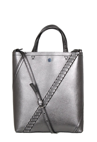 PS Hex Tote Metal, Dark Silver