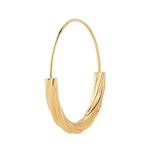 Tove Medium Earring, High Polish Gold