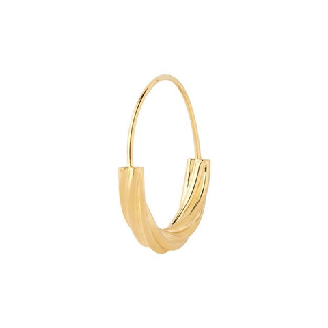 Tove Small Hoop Earring, High Polish Gold