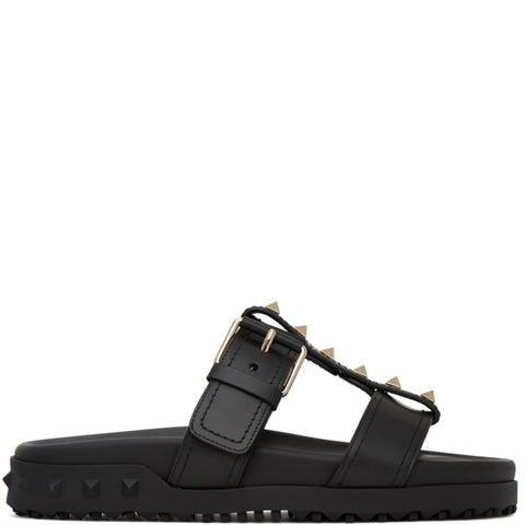 Rockstud Flat Base Slide, Black