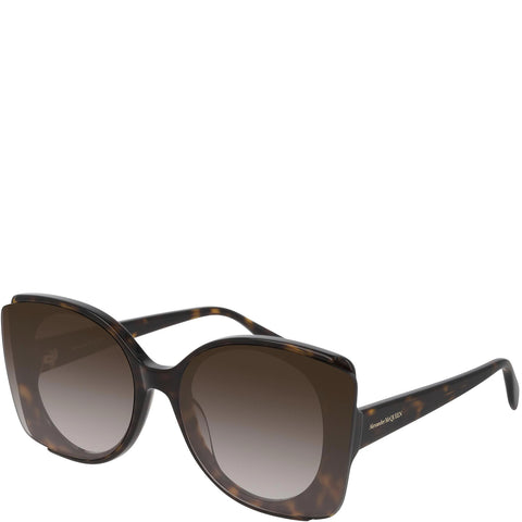 Acetate Butterfly Sunglasses, Dark Havana