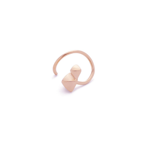 Marble Twirl Earring, Rose Gold