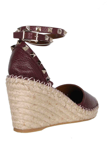 Espadrille Wedge Grained, Rubin