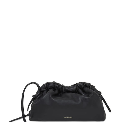 Clutch Clutch Mini Lambskin, Black/Flamma