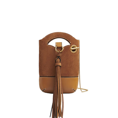 Walden Mini Chain Bag, Autumnal Brown