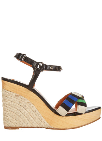 Wedge Sandal with Stripes