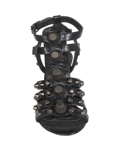 Studded Gladiator Wedge 80 G12, Black/Gun Metal