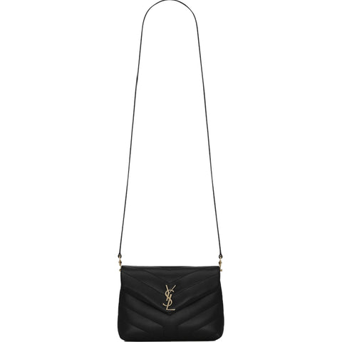 LouLou Toy Crossbody, Black/Bronze