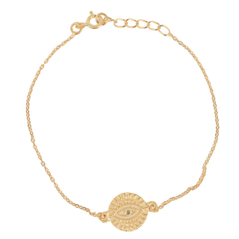 All Seeing Eye Bracelet, Gold