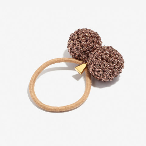 Rock Formation Hair Tie, Bronze/Taupe