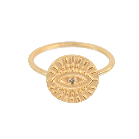 All Seeing Eye Ring, Gold