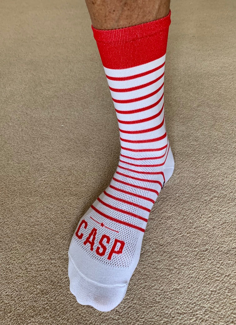 Red Pinstripes Socks