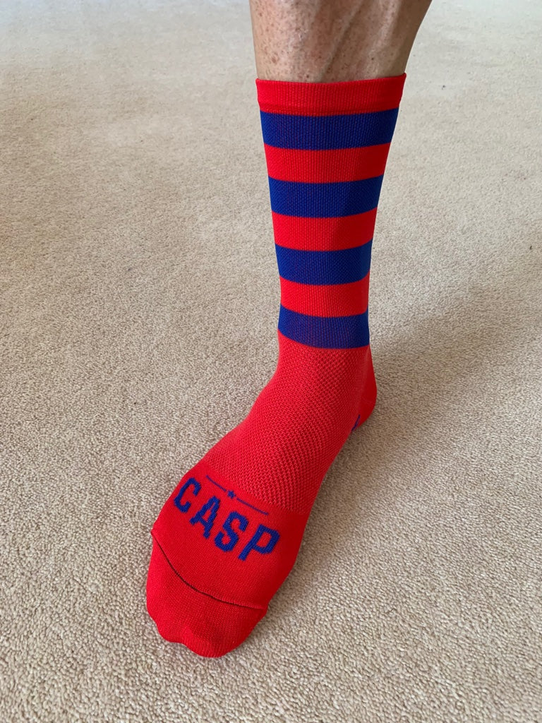 Ruby Stripe Socks