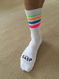 Stripe Socks White