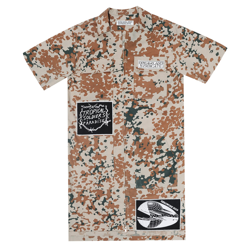 Zerowork Desert Camo Dress with Patches