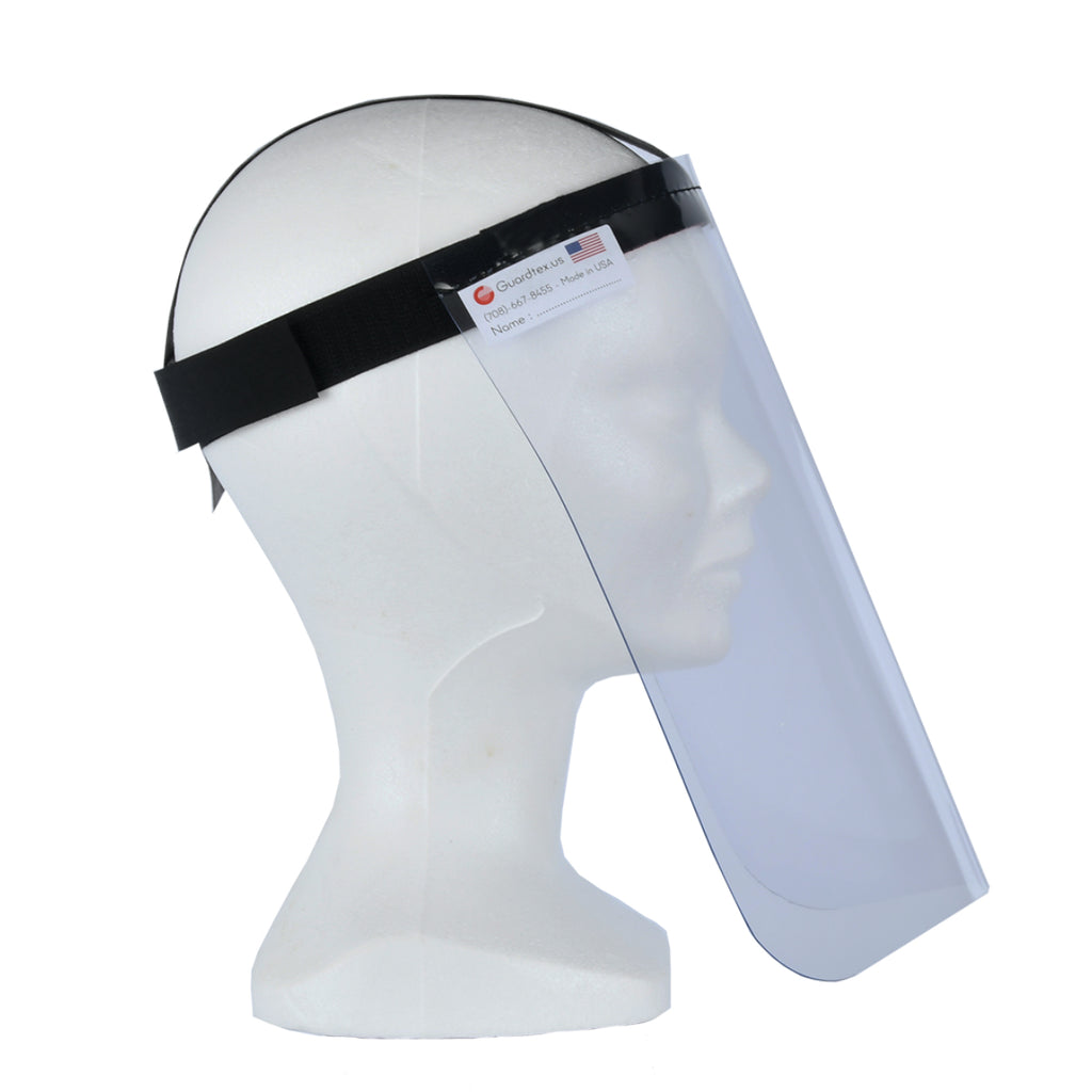 GUARDFACE by GUARDTEX Flexible Face Shield - Side view
