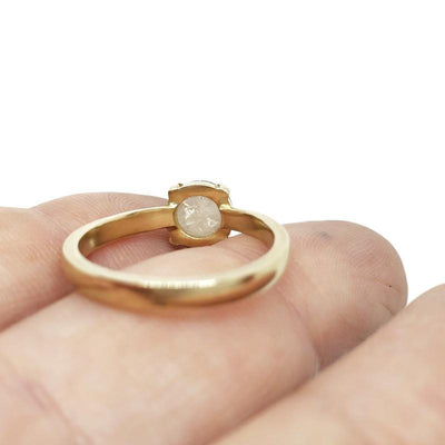 Ring - Size 6 - OOAK 1.27 ct Ice Diamond 14k Yellow Gold by Silver + Salt