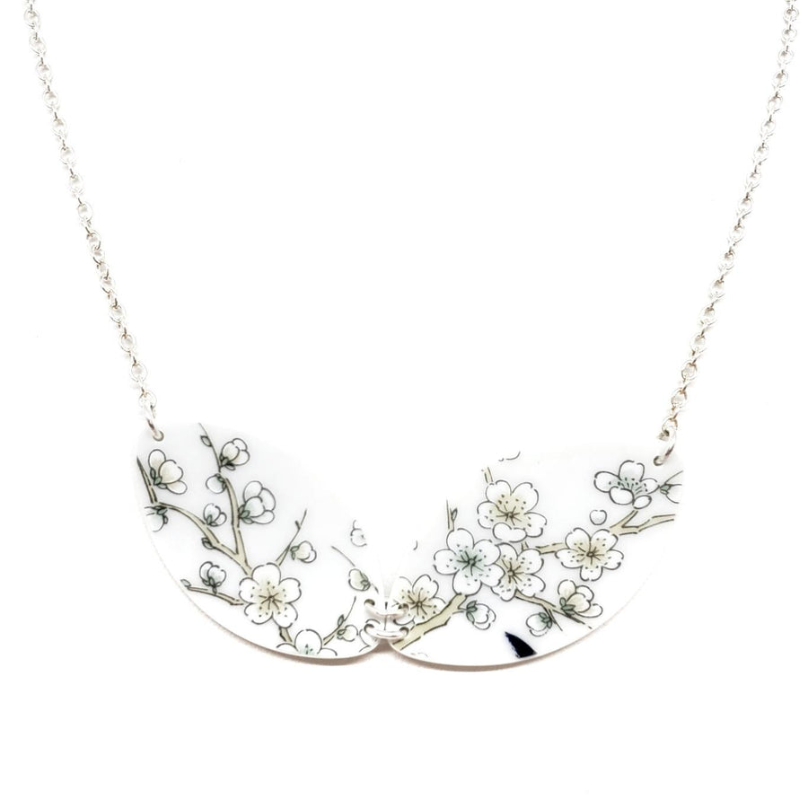 Necklace - Duo Vintage China Pale Cherry Blossoms by Material+Movement