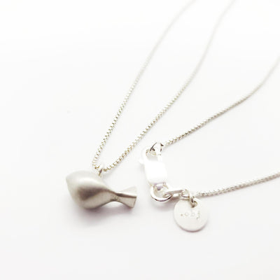 Pendant - Med Mr. Tweet Bird Matte Sterling by La Objeteria