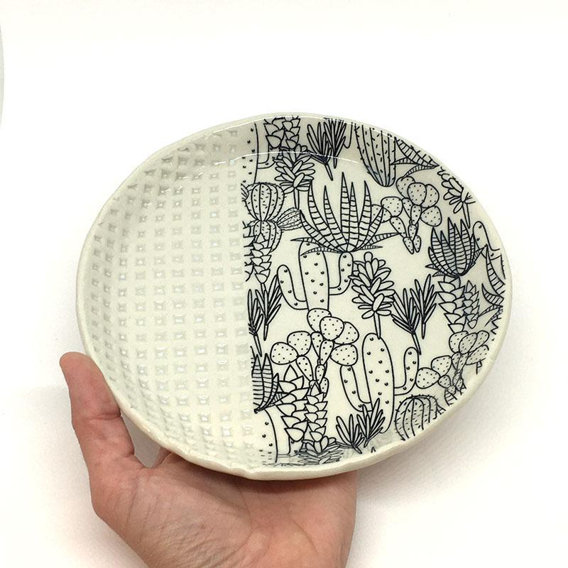 Large Plate - Succulent by Clay It Forward