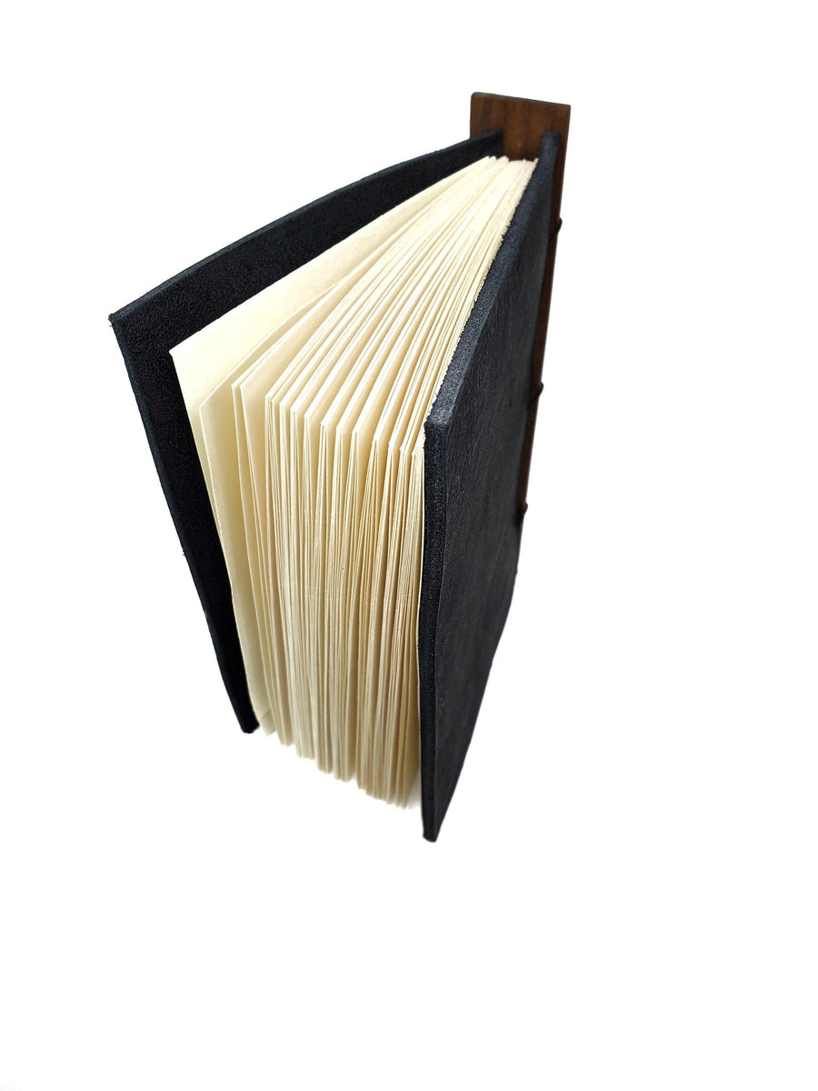 4x6in Black Leather Journal (Assorted) by BookGrain