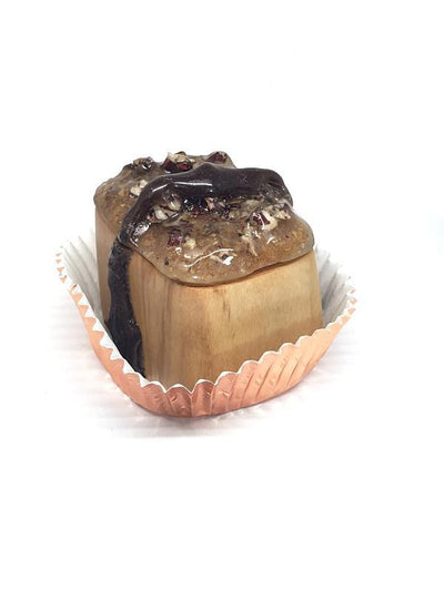Ring Box - Caramel Candy with Black Walnut Chocolate OOAK by JeanineDesigns