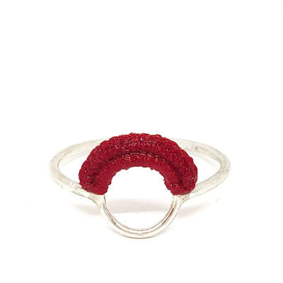 Rings - Red Sterling Ember by Twyla Dill