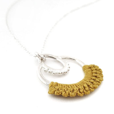 Necklaces - Mustard Sterling Maha Necklace by Twyla Dill