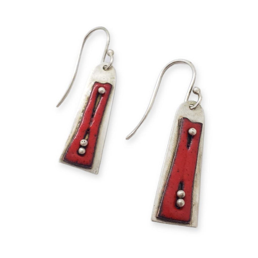 Earrings – Cassi Red by Robert Dudenhoefer II