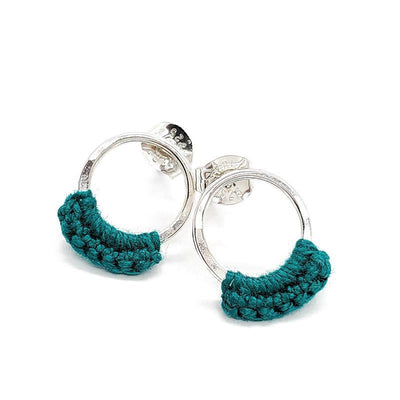 Earrings - Turquoise Sterling Ember Studs by Twyla Dill