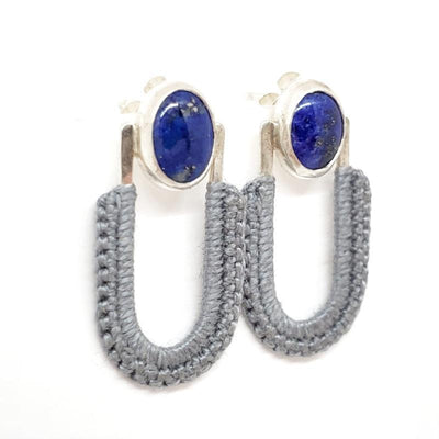 Earrings - OOAK Slate Lapis Vera Studs by Twyla Dill