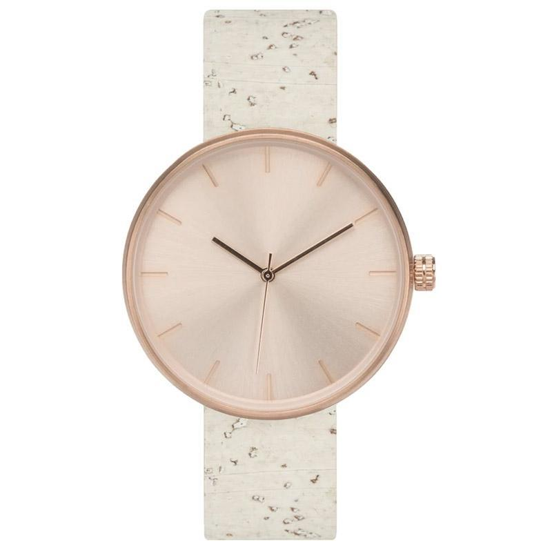 Watch - Rose - White Cork Band by Analog Watch Co