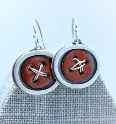 Earrings - Betti - Enamel Sterling Silver by Robert Dudenhoefer II