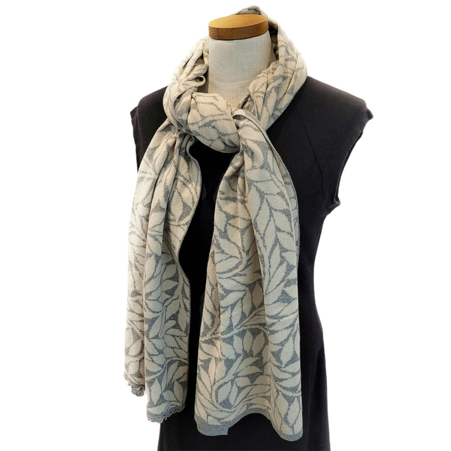 Olive Branch Wrap - Light Grey and Cream by Liamolly