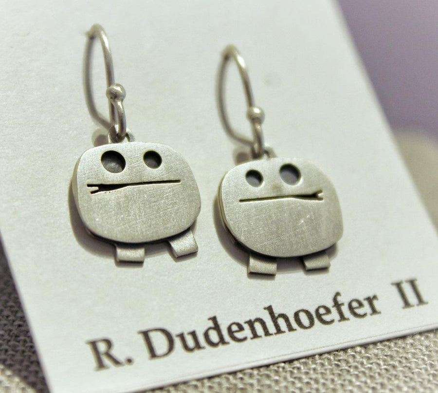 Earrings - Boy Sterling Silver (RD55)  by Robert Dudenhoefer II