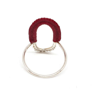 Rings - Red Sterling Vishu by Twyla Dill